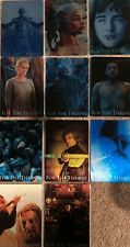 """Game of Thrones Season 8: """"For The Throne"""" Complete Set of 11 Metal Cards #F1-11"""