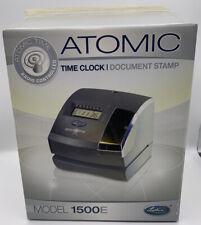 Lathem Model 1500e Atomic Time Recorder Punch Clock With Keys New Open Box