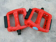 "New, Odyssey BMX Bike Resin/Plastic Platform Pedals Red, 9/16"" Spindles"