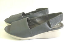 "CAMPER Womens Sz 39 US 9 M Grey Leather Slingback Sandals ""Extra Light"""