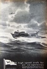 1941 'WALTON' Wartime High-Speed Motor Launch Ad #3 - WW2 Naval Print Advert