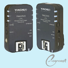 YONGNUO Wireless TTL Flash Trigger YN622 II YN-622N II with HSS 1/8000 for Nikon