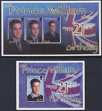MONTSERRAT :2003 Birthday of Prince of Wales sheet + M/Sheet  SGMS1236/7 MNH