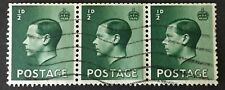 Gb Edward Viii 1/2d Green Sg457wi Part Booklet Pane used