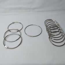 11 O Rings 3½ inch, 3 Different Types forvCrafts, Paper Organization, Key Chains