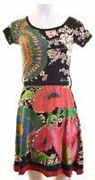 DESIGUAL Womens A-Line Dress Size 10 Small Multicoloured Cotton  EC05