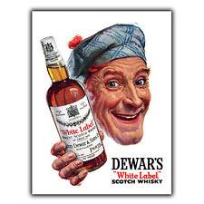 Dewar's White Label Whiskey Vintage Retro Advert METAL WALL SIGN KITCHEN