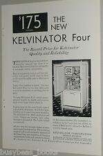 1929 Kelvinator refrigerator advertisement, early electric icebox