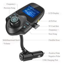 New Wireless For Car Bluetooth Fm Transmitter Radio Adapter Car Kit Usb Charger