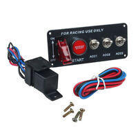 Pannello Interruttore Accensione 12V DC Per Leva LED Auto Da Corsa, Pulsante Di
