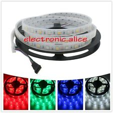 DC12V 5M 5050 RGBW RGB+white 300 led strip light IP67 Silicon Tube waterproof