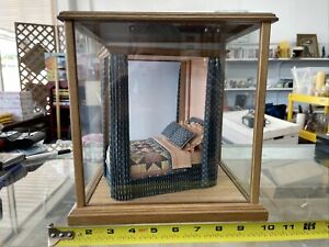 Dollhouse Miniature Bed 1:12 Great Attention To Detail