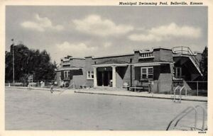 Municipal Swimming Pool Belleville Kansas dist Colwell Drug Co