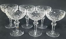 "(6) Waterford POWERSCOURT Champagne Glasses, 5 3/8"", Multiples Available, EUC"