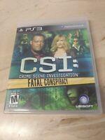 CSI Crime Scene Investigation Fatal Conspiracy PlayStation 3 PS3