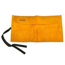 12 de bolsillo Herramienta De Cuero Bolsa cubierta de bolsillo titular de rollo TE027
