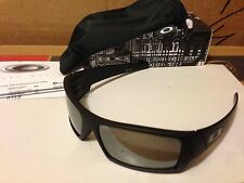 NEW Oakley Polarized Gascan - Matte Black / Black Iridium Polarized, 12-856
