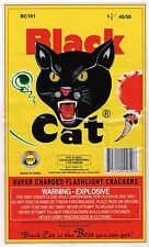 ORIGINAL FIRECRACKER FIREWORKS LABEL BLACK CAT CLASSIC BRICK MACAU MODERN 40/50