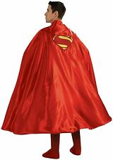 DC Superman Adult Deluxe Cape Licensed 888202 New - Superman Embroidered Logo