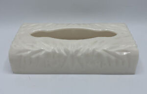 Vintage MCM Rialto Products NY Ivory Pearl Lucite Acrylic Tissue Box Holder