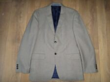 """MARKS AND SPENCER BROWN MIX CHECKED WOOL MIX JACKET SIZE 38"""" LONG 97CM"""