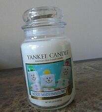 Yankee Candle Merry Marshmallow  22 oz  NEW  1 SINGLE Winter/Holiday Free Ship