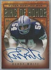 2002 TOPPS RING OF HONOR SUPER BOWL XII MVP RANDY WHITE AUTO!!