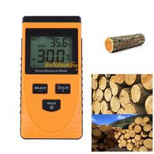 Non-Invasive Inductive Digital LCD Wood Timber Moisture Meter Damp Tester Tool