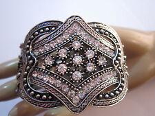 Brillante Damen Armspange Armreif Armband Strass Silber Klar Kristall A737
