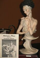 Armani bust sculpture 1989 Lady with Headband signed in pen by Sculptor Florence