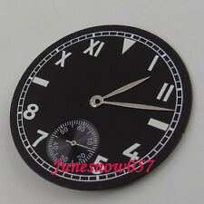 Fit ETA 6498 movement 38.9mm sterial California watch Dial with silver hands D78