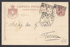 STORIA POSTALE REGNO 1901 Intero 10c Camera Deputati da Roma a Ferrara (E6)