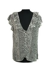 M&S Top Size 14 Black & White Office Evening Casual Everyday Holiday Weekend *