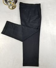 Dockers Mens Luxury Pleated Dress Pants Golf Casual Classic Black Sz 32/30 GIFT!