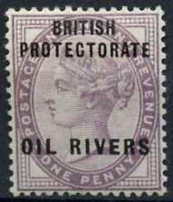 Niger Coast British Protectorate 1892 SG#2, 1d Lilac, Oil Rivers QV MH #E11067