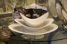 Scoops 3 Piece Place Setting, Rosenthal A la Carte, modern white dinnerware, new