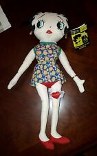 "Peace Lovin' Betty Boop 15"" Plush Toy with Tag 1999 Kellytoy DISPLAYED ONLY"