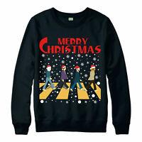 Merry Christmas Beatles Jumper, English Rock Band Festive Gift Jumper Top