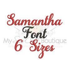 SAMANTHA ALPHABET FONT MACHINE EMBROIDERY DESIGNS - 6 SIZES - IMPFCD40