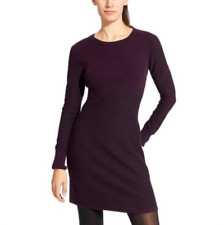 $108 ATHLETA PURPLE LONG SLEEVE COTTONWOOD SWEATER RIBBED DREWIRA DRESS Sz XXS