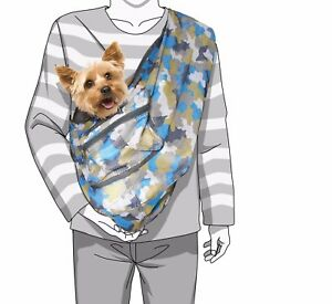 Foldable Camouflage Print Mesh Dog/Cat Carrier Crossbody Sling Bag Medium Size