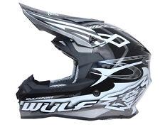 Wulfsport Sceptre Adult ACU Gold Motocross MX ATV Quad Crash Enduro Helmet Black