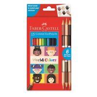 Faber-Castell World Colors Colored EcoPencils 15-Count Set