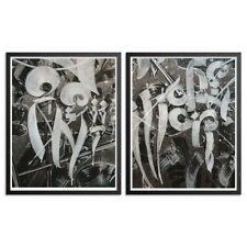 Chaz Bojorquez - Right & Wrong Diptych - 2 Art Prints - S/N/100 - 2016