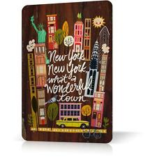 METAL TIN SIGN NEW YORK MANHATTAN SOUVENIR #2 Vintage Retro Decor Home Wall