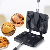 Non-stick Taiyaki Fish-shaped Cake Pan Waffle Maker Bread Home Food Cooking