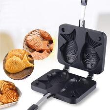 Non-stick Taiyaki Fish-shaped Cake Pan Waffle Maker Bread Home Food Cooking