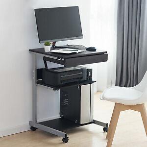 Mesa Escritorio con Ruedas Mesa Ordenador de Impresora PC para Oficina Esquina