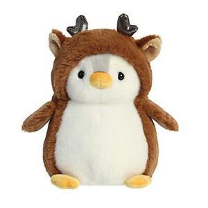 Aurora PomPom Penguin Christmas Reindeer 7In Soft Toy