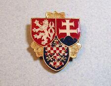 Czech Rep Prague Castle Guard  Military Army Officer Enamel Badge Czechoslovakia
